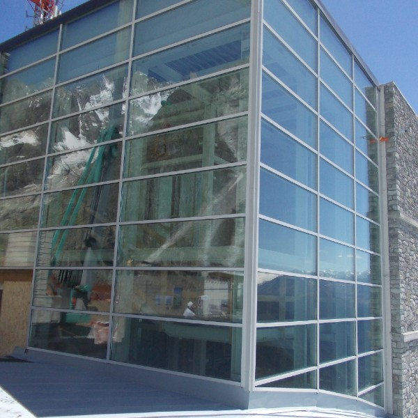 Facciata continua - Museo Pavillon Funivie Monte Bianco – Courmayeur (AO)