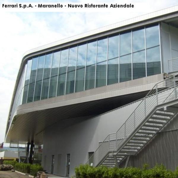 Facciata continua – Ristorante Aziendale Ferrari – Maranello (MO)